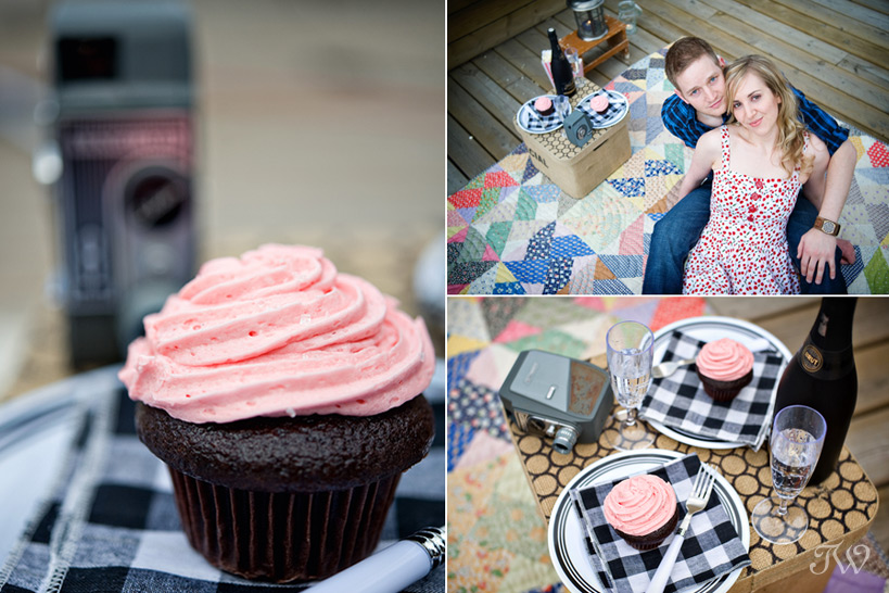Rooftop-movie-Calgary-engagement-session-bride-groom-cupcakes