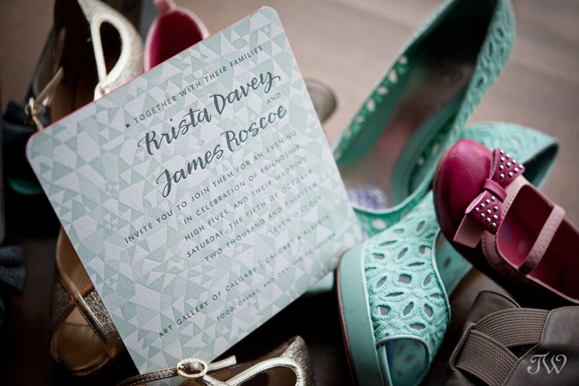 Art-gallery-of-Calgary-wedding-photographs-colorful-shoes