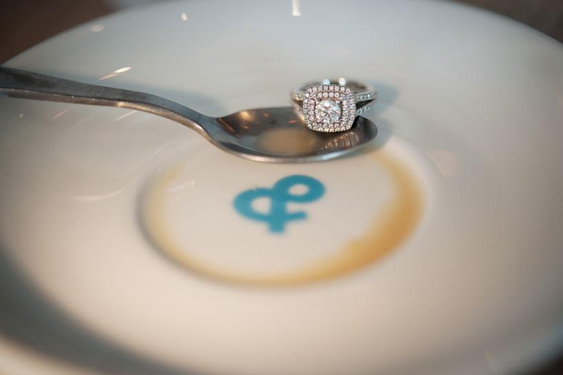 diamond engagement ring Calgary engagement photography