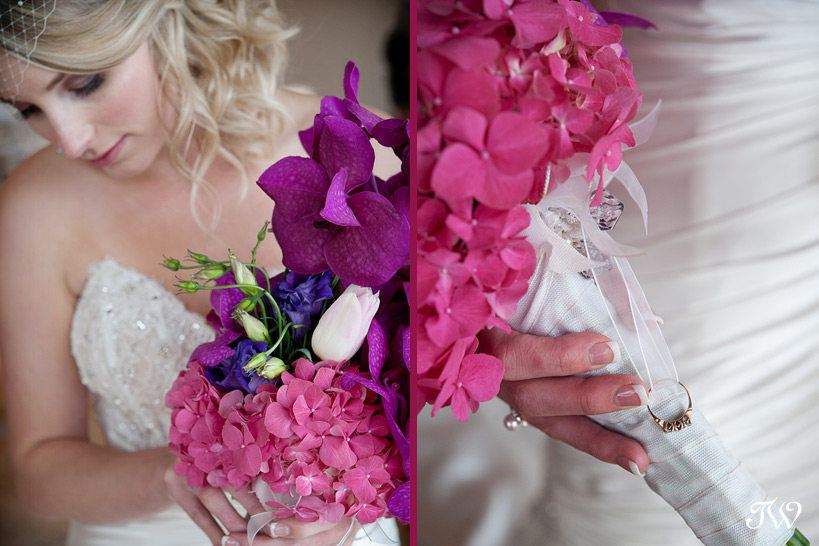 Photographer-in-Calgary-bride-carrying-purple-bouquet
