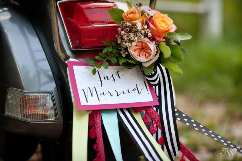 unique-wedding-flowers-getaway-Vespa-01