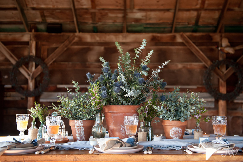 dinner table at a Calgary Stampede party captured by Tara Whittaker Photography