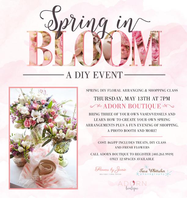 flower arranging class poster