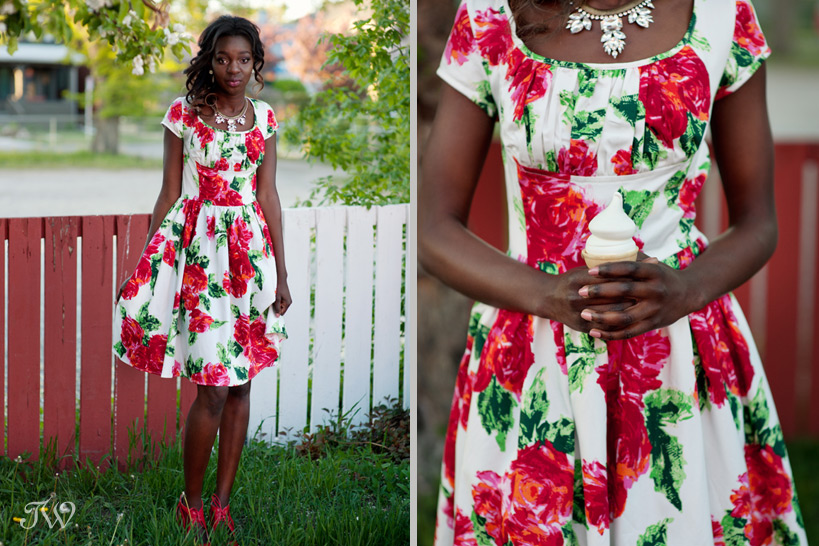 floral print bridesmaid dresses captured by Tara Whittaker Photography