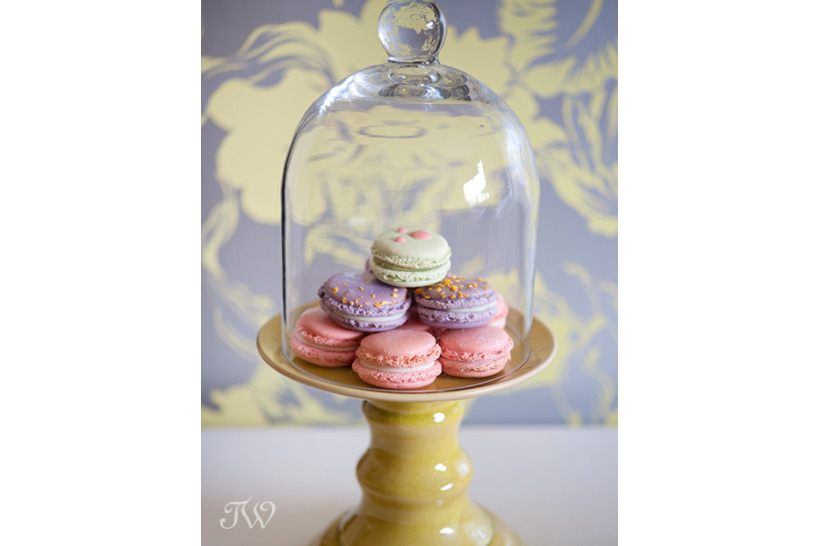 pastel macarons for guests captured by Tara Whittaker Photography