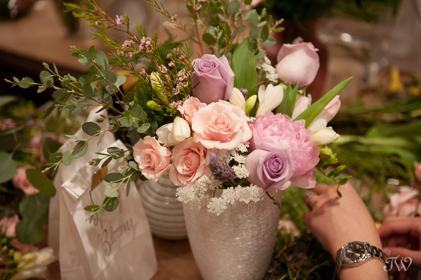 spring flower arrangement captured by Tara Whittaker Photography
