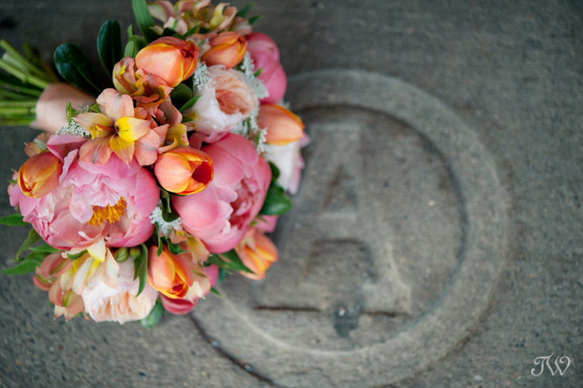 peony wedding bouquet captured by Tara Whittaker Photography