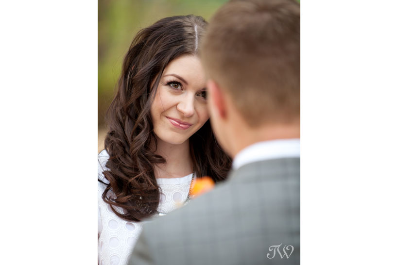 bride during Calgary elopement captured by Tara Whittaker Photography