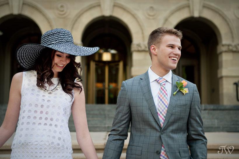 bride and groom's Calgary wedding photos