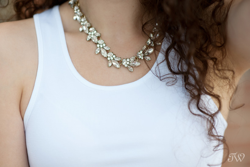 statement necklace captured by Tara Whittaker Photography