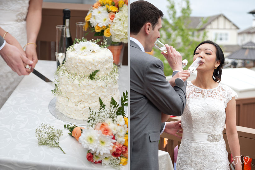 Wedding champagne toast captured by Tara Whittaker Photography