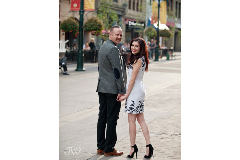 downtown Calgary engagement session captured by Tara Whittaker Photography