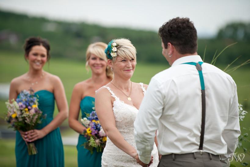 emotional wedding ceremony captured by Tara Whittaker Photography