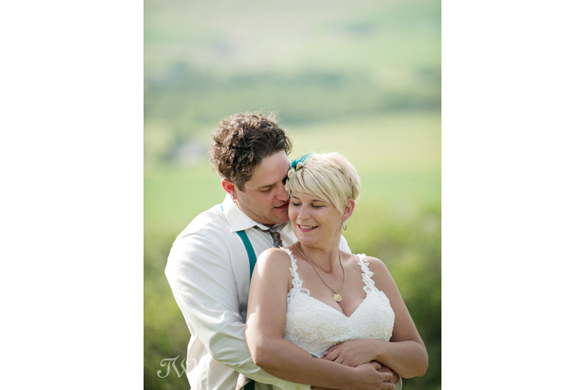 couples pose after their Okotoks ranch wedding captured by Tara Whittaker Photography
