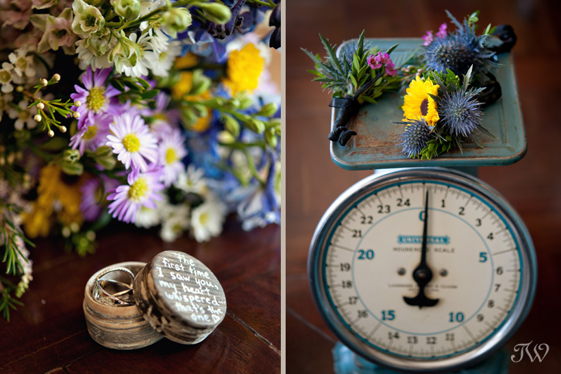 wildflowers and wedding rings captured by Tara Whittaker Photography