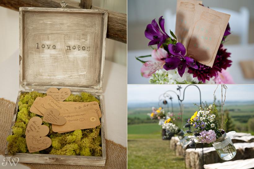 pretty wedding details captured by Tara Whittaker Photography