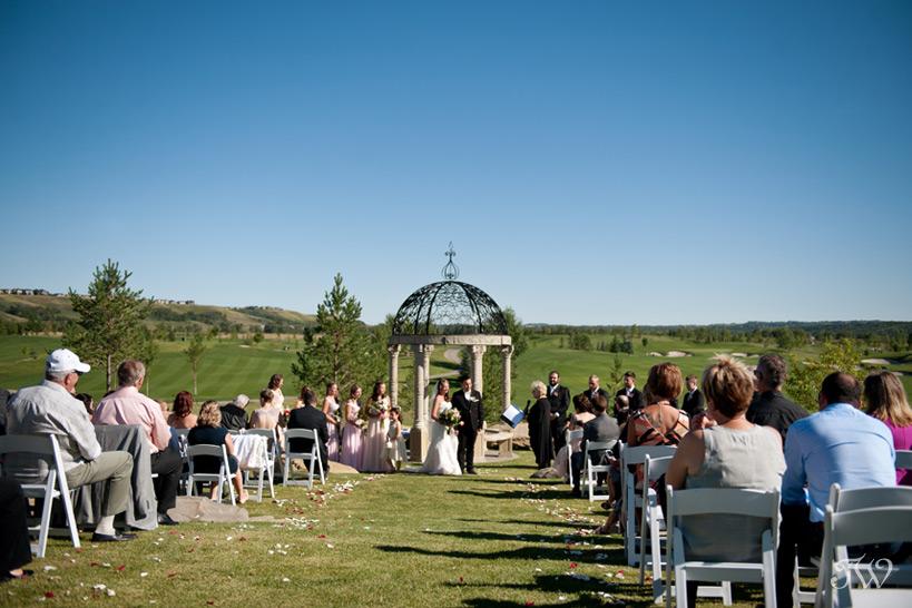 Gazebo at a Blue Devil Golf Club wedding captured by Tara Whittaker Photography