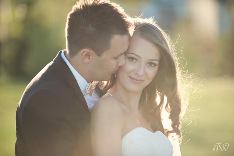 bride and groom at their Blue Devil Golf Club wedding
