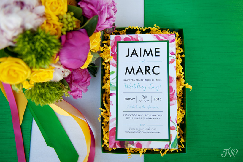 boxed wedding invitation by Modern Pulp captured by Tara Whittaker Photography