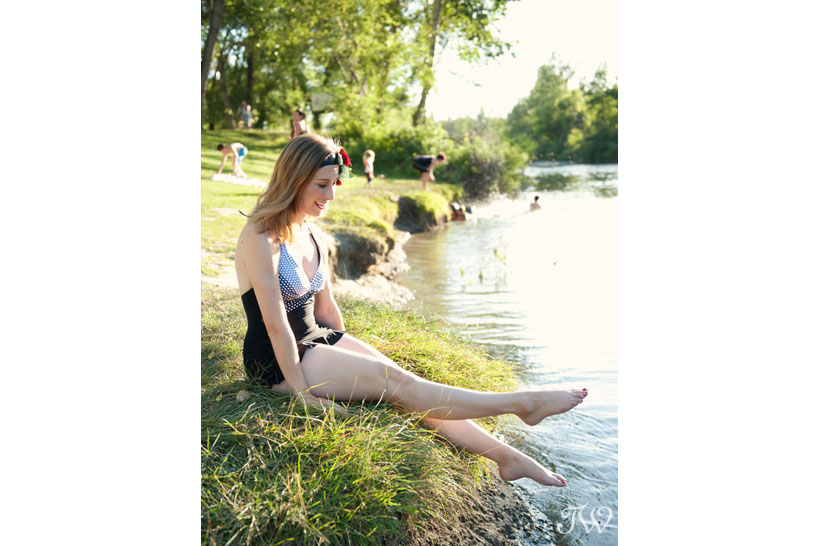 Vintage-inspired swimsuit from Swimco captured by Tara Whittaker Photography