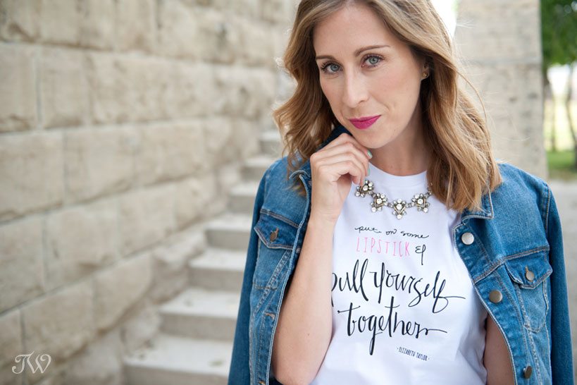 Elizabeth Taylor inspired graphic tees captured by Tara Whittaker Photography