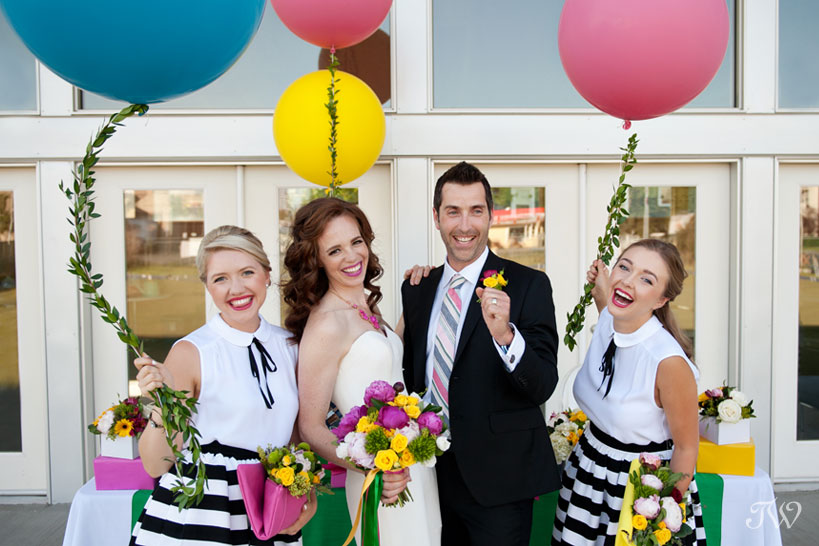 preppy wedding by Calgary wedding photographer Tara Whittaker