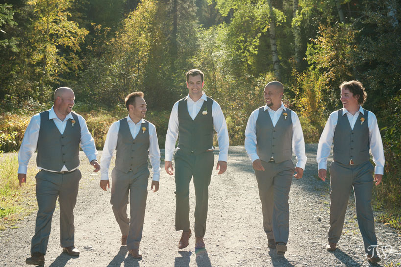 Groomsmen in Fernie wedding photographs by Tara Whittaker Photography