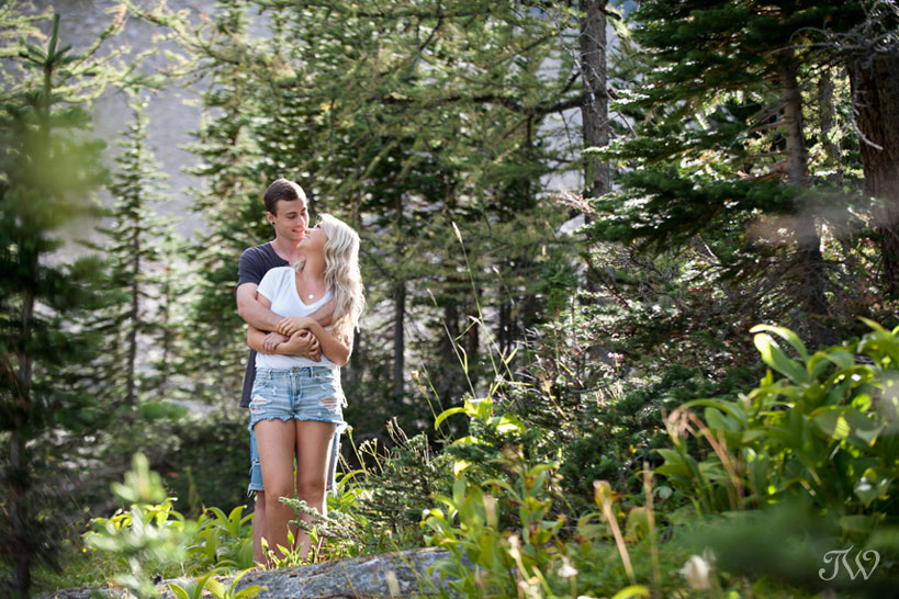 engagement session in the mountains captured by Tara Whittaker Photography