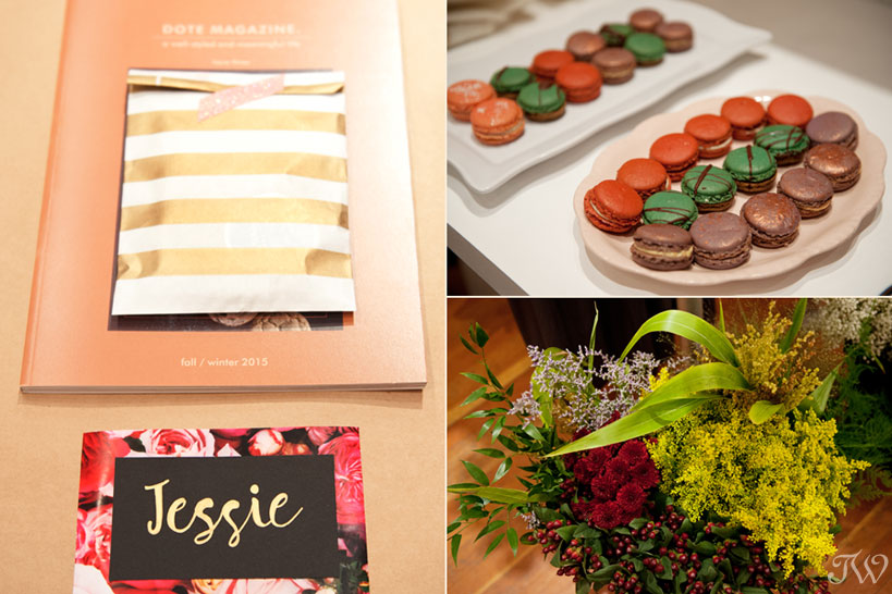 Gift bags at flower crown workshop at Adorn Boutique captured by Tara Whittaker Photography
