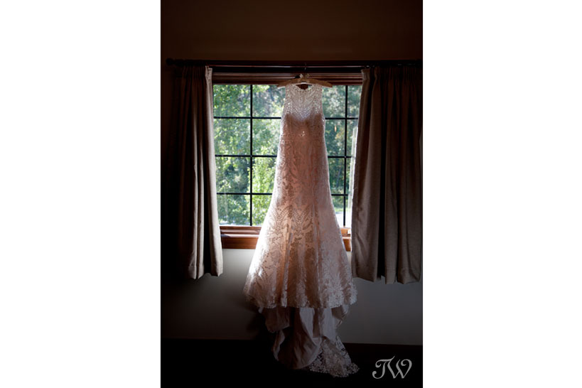 Eddy K wedding gown captured by Fernie wedding photographer Tara Whittaker