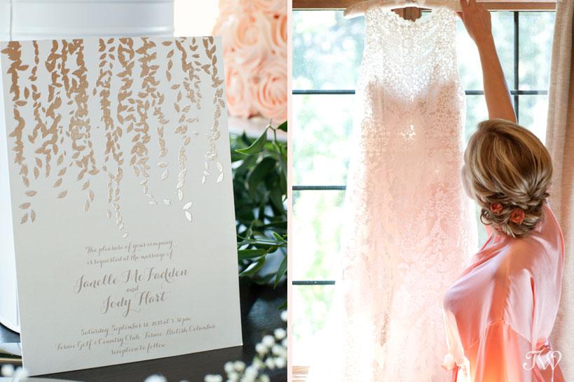 Wedding invitation by Minted captured by Fernie wedding photographer Tara Whittaker
