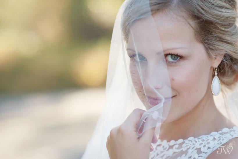 Bridal portrait captured by Fernie wedding photographer Tara Whittaker