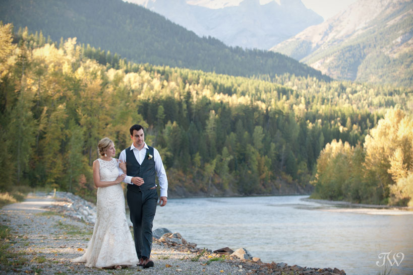 Fernie bride and groom captured by Tara Whittaker Photography