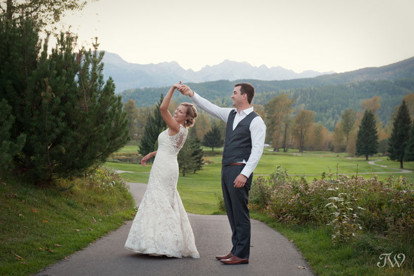Bride and groom after their mountain wedding captured by Tara Whittaker Photography