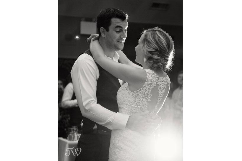 First dance captured by Fernie wedding photographer Tara Whittaker