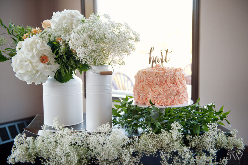 Wedding cake table designed by Mountain Bride captured by Tara Whittaker Photography