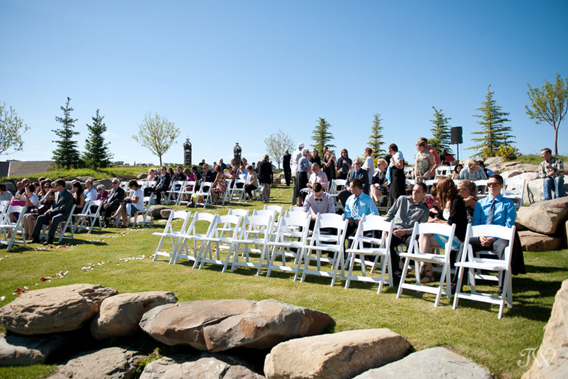 Ceremony site captured by Blue Devil Golf Club wedding photographer