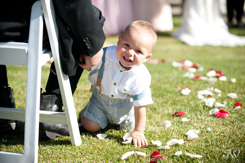 Ring bearer captured by Blue Devil Golf Club wedding photographer