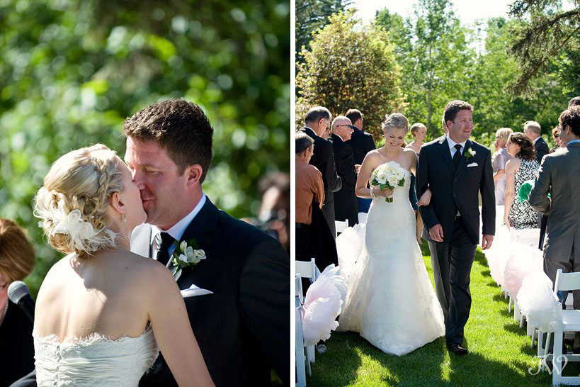 Bow Valley Ranche wedding ceremony captured by Calgary wedding photographer Tara Whittaker