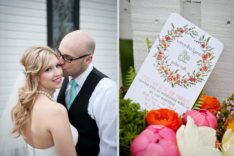whimsical wedding invitation captured by Tara Whittaker Photography