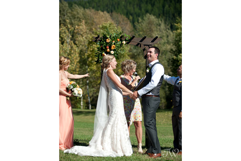 laughter during a wedding ceremony captured by Tara Whittaker Photography