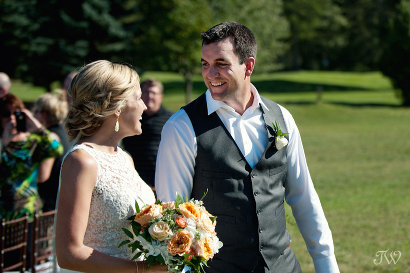 happy bride and groom captured by Tara Whittaker Photography