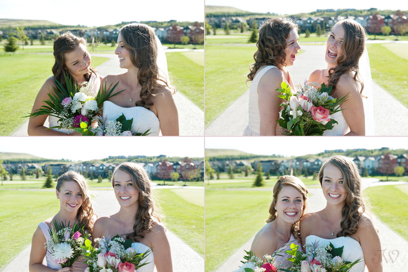 bride with her bridesmaids captured by Tara Whittaker Photography