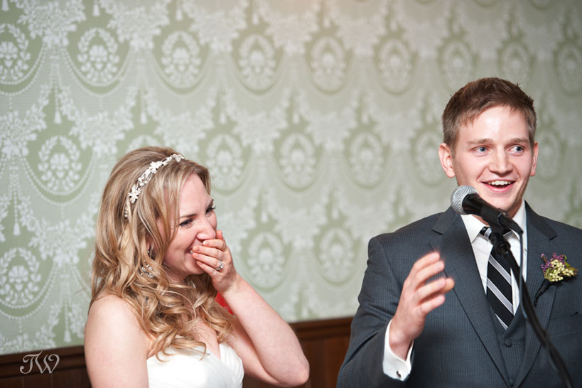 funny wedding speeches captured by Tara Whittaker Photography