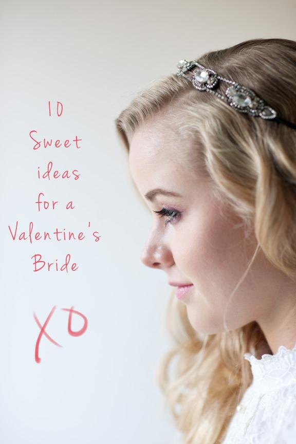 Valentine's Day Bride captured by Calgary wedding photographer Tara Whittaker