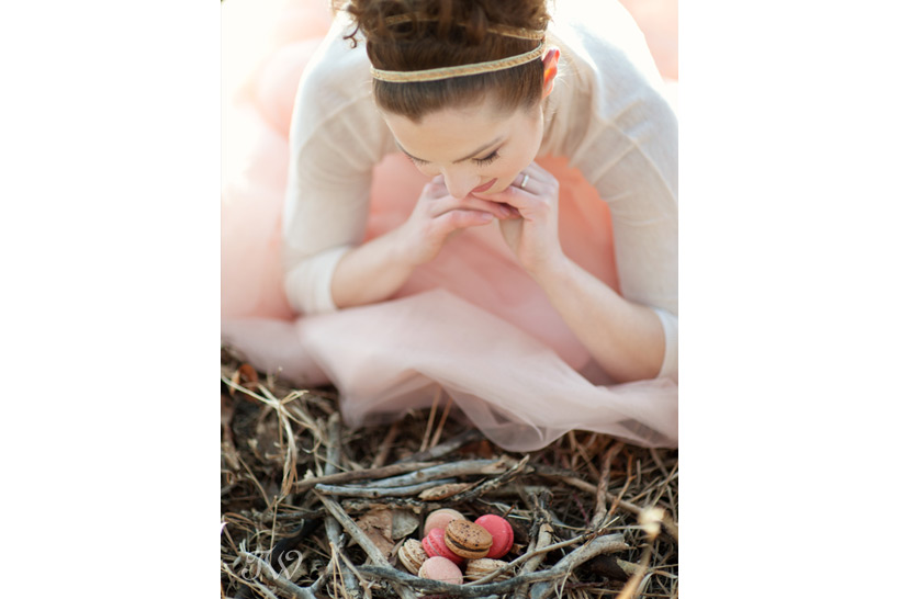 DIY projects serve macarons in a nest captured by Tara Whittaker Photography