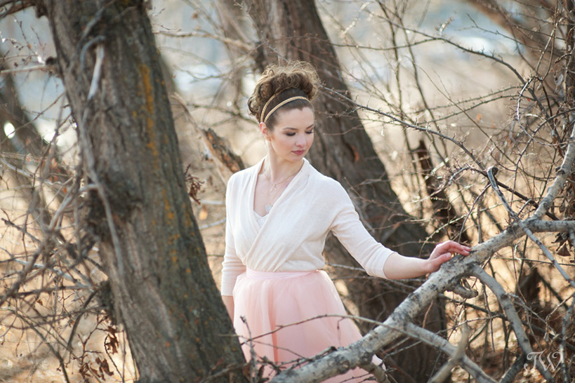 spring bridal portrait captured by Tara Whittaker Photography