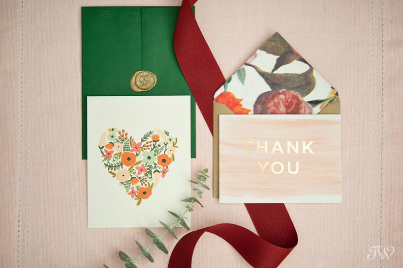 invitation for a Valentine's Day wedding captured by Calgary wedding photographer Tara Whittaker