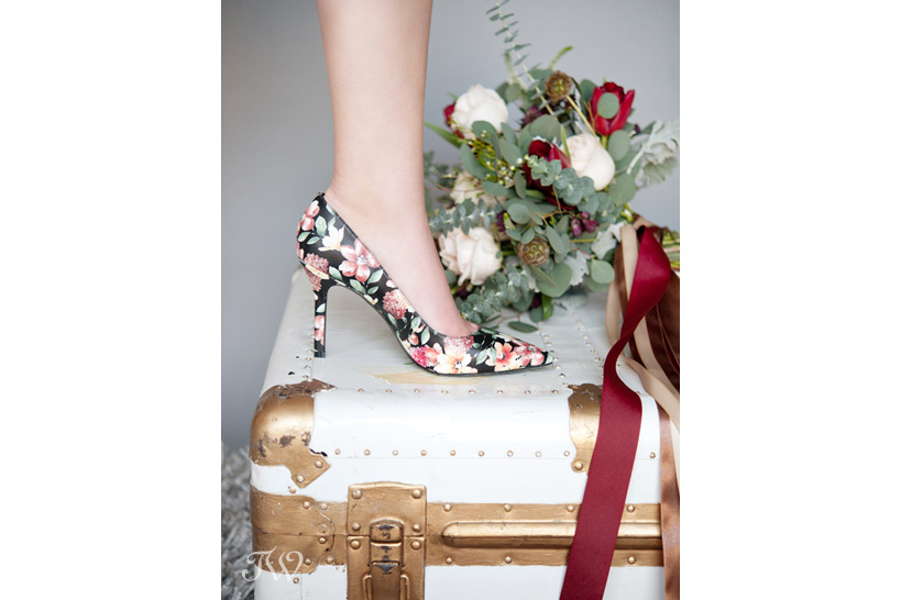 Floral pumps from Nine West Canada captured by Tara Whittaker Photography