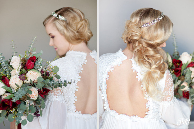 vintage gown from A Vintage Affair captured by Tara Whittaker Photography